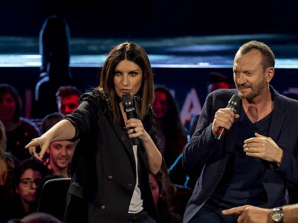 BIAGIO ANTONACCI E LAURA PAUSINI A RADIO ITALIA (02/04/19)